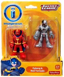 Imaginext DC Justice League Exclusive Figure 2-Pack Cyborg & Red Tornado