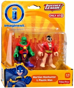 Imaginext DC Justice League Exclusive Mini Figure 2-Pack Martian Manhunter & Plastic Man New!