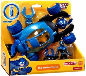 Imaginext DC Justice League Exclusive Figure Blue Beetle & Vehicle