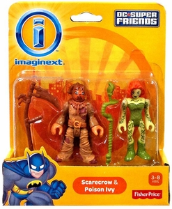 Imaginext DC Super Friends Mini Figure 2-Pack Scarecrow & Poison Ivy