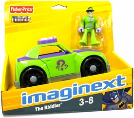 Imaginext DC Super Friends Vehicle Riddler Car [Includes Riddler with Hat]