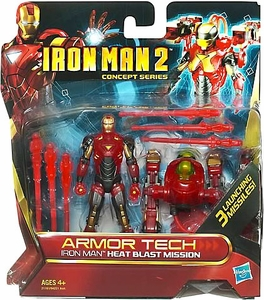 Iron Man 2 Concept Armor Tech Deluxe Action Figure Heat Blast Mission