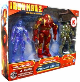Iron Man 2 Movie Exclusive Concept 4 Inch Action Figure 3-Pack Proving Ground [Holographic Mark VI, Hulkbuster Armor & Recon War Machine]
