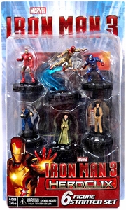 Iron Man 3 Heroclix Starter Set [6 Figures] New!