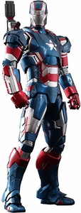 Iron Man 3 Hot Toys 1/6 Scale Collectible Diecast Figure Iron Patriot New!