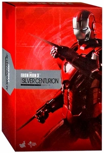 Iron Man 3 Hot Toys 1/6 Scale Collectible Figure Iron Man Mark 33 Silver Centurion New!