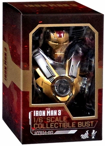 Iron Man 3 Hot Toys Movie 1/6 Scale Collectible Bust Iron Man MK 17 New!