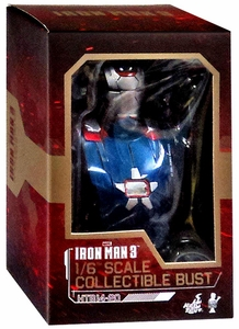 Iron Man 3 Hot Toys Movie 1/6 Scale Collectible Bust Iron Patriot New!