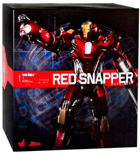Iron Man 3 Hot Toys Movie 1/6 Scale Power Pose Figure  Iron Man Mark 35 Red Snapper New!