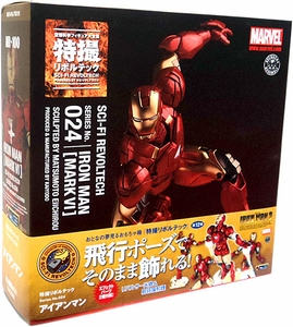 Iron Man Revoltech #024 Sci-Fi Super Poseable Action Figure Iron Man [Mark VI]