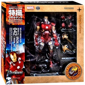 Iron Man Revoltech #042 Sci-Fi Super Poseable Action Figure Iron Man [Mark VII] New!