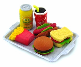 Iwako Japanese Food Eraser Set Fast Food