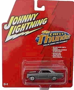 Johnny Lightning 1:64 Scale Diecast Car Chevy Thunder #27 1966 Chevy Nova SS