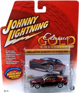 Johnny Lightning 1:64 Scale Diecast Car Classic Gold 2002 Aston Martin V12 Vanquish