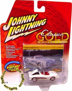 Johnny Lightning 1:64 Scale Diecast Car Classic Gold R30 1958 Corvette (Top Down) VARIANT (No Whitewall & Different Hub Caps)