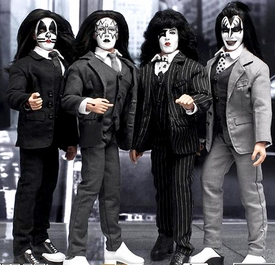 KISS 12 Inch Series 5 Retro Action Figure Set Dressed To Kill