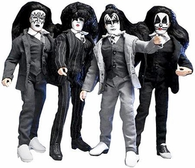 KISS 8 Inch Series 5 Retro Action Figure Set Dressed To Kill