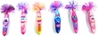 Kooky Klickers Krew 48 Set of 6 Pens