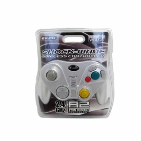 Kuma Shock-Wave Wireless Silver Wii / Gamecube Controller
