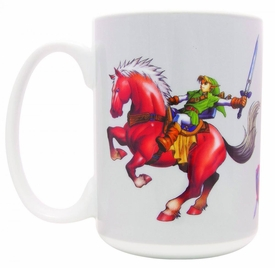 Legend of Zelda Ocarina of Time Mug Link on Epona  Pre-Order ships July