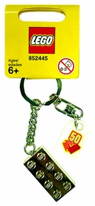 LEGO 50th Anniversary Gold Brick Keychain
