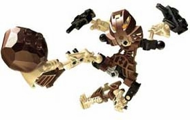 LEGO Bionicle ORIGINAL TOA LOOSE Figure #8531 Pohatu (Brown)