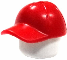 LEGO City LOOSE Accessory Red Baseball Cap with Short Curved Bill