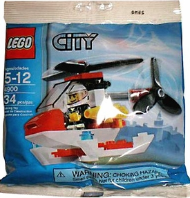 LEGO City Set #4900 Fire Helicopter [Bagged] BLOWOUT SALE!