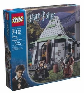 LEGO Harry Potter and the Prisoner of Azkaban Set #4754 Hagrid's Hut Slightly Damaged Box, Mint Contents!