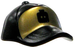 LEGO LOOSE Accessory Black Baseball Cap with Gold Details