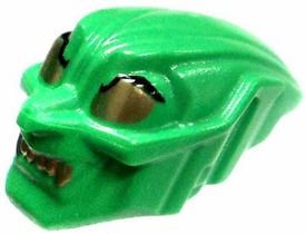 LEGO LOOSE Accessory Green Green Goblin Mask with Gold Eyes & Teeth