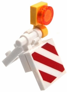 LEGO  LOOSE Accessory White Small Construction Barricade