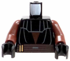 LEGO LOOSE Dark Brown Torso with Black Tunic & Upper Chest Protection