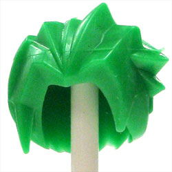 LEGO LOOSE Hair Long Green Rubber Spikey Hair