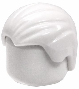 LEGO LOOSE Hair  White Combed Front To Back