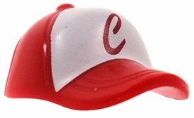 LEGO LOOSE Headgear Red Baseball Cap with Red 'C' on White Field