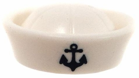 LEGO LOOSE Headgear White Naval Sailor's Hat