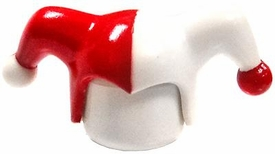 LEGO LOOSE Headgear White & Red Jester Cap