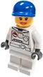 Lego LOOSE Minifigure White Spacesuit with Blue Hat and Long Eyelashes