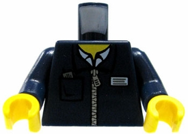 LEGO LOOSE   Navy Blue Zipper Jacket with I.D. Tag & Ticket in Breast Pocket