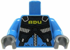 LEGO LOOSE TORSO Light Blue with Armored ADU Vest