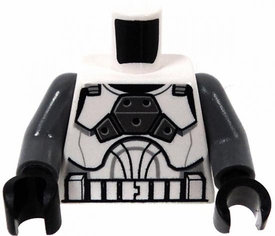 LEGO LOOSE White Armor with Gray Arms & Black Gloves