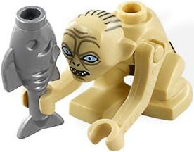 LEGO Lord of the Rings LOOSE Mini Figure Smeagol with Fish