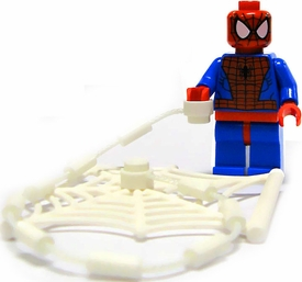 LEGO Marvel Super Heroes LOOSE Complete Minifigure Spider-Man with Webs
