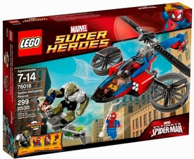 LEGO Marvel Super Heroes Set #76016 Spider Helicopter Rescue New!