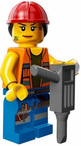 LEGO Minifigure Collection LEGO Movie Series LOOSE Gail the Construction Worker