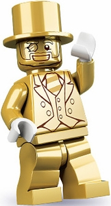 LEGO Minifigure Collection Series 10 LOOSE Mini Figure Mr. Gold NO CODE!