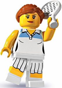 LEGO Minifigure Collection Series 3 LOOSE Mini Figure Female Tennis Player