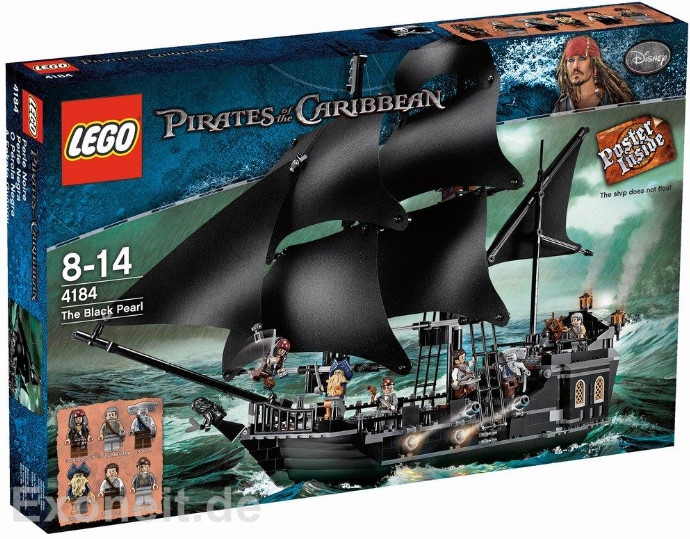 LEGO Pirates of the Caribbean The Black Pearl Set #4184 on ...