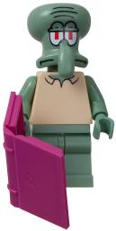 LEGO Spongebob LOOSE Mini Figure Squidward with Book